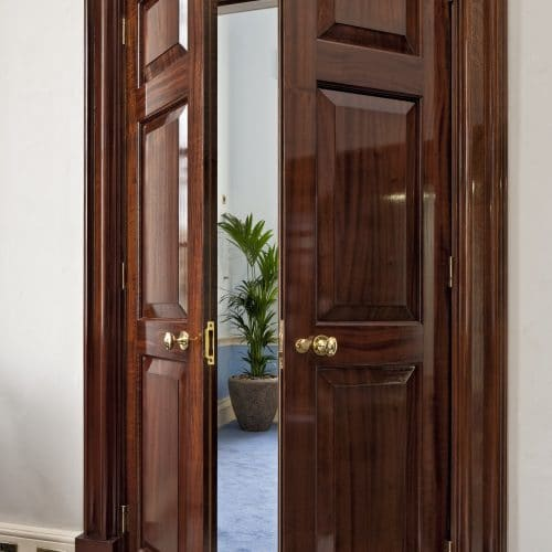 Double fire doors - interior