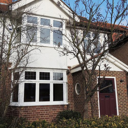 Square bay casement windows