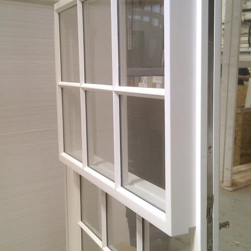 Open sash window fire exit