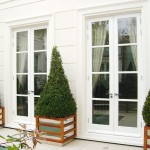 Traditional timber French doors London