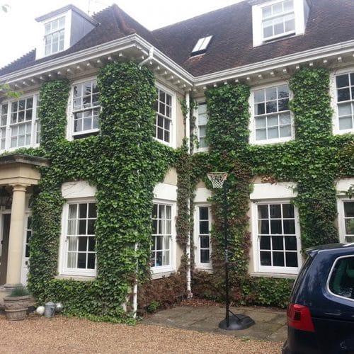 Traditional timber sash windows