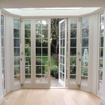 Bifold doors for a bay