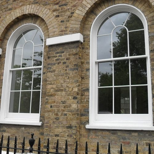 Replacement curved sash windows listed building