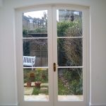 Curved French doors