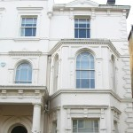 Curved period sash windows