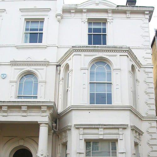 Curved period sash windows