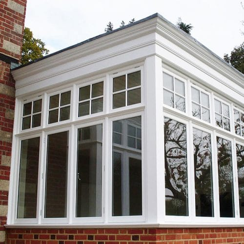 Casement windows on an extension