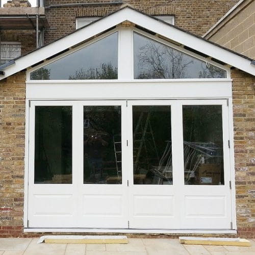Bifold doors with panels