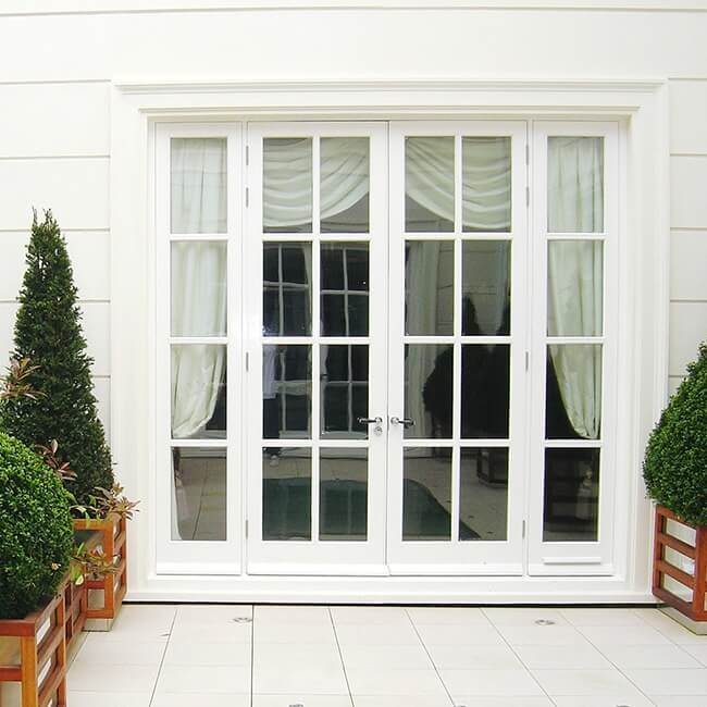 Internal external french doors patios or balconies for Inward opening french doors