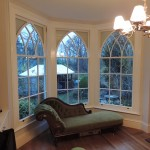 Gothic sash windows