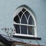Gothic timber sash windows