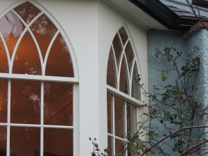 Gothic sash windows, period property