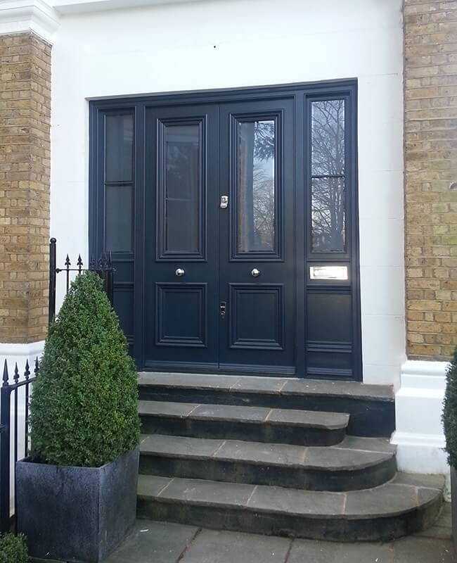 Custom built traditional front doors victorian edwardian georgian for Exterior doors with side panels