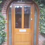 Oak front door with glass panels