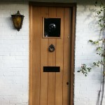 Stained oak front door