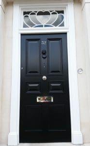 Georgian front door in black