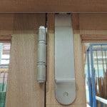 Bifold door drop bolt