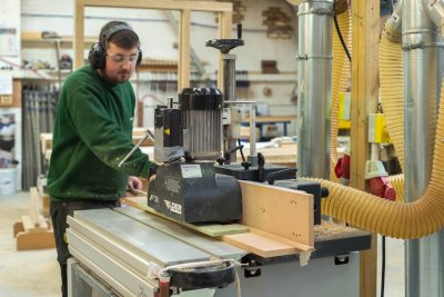 Spindle moulder in action