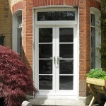 French doors with top window