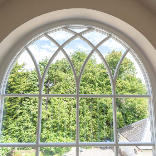Gothic arched casement window