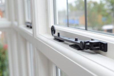 Casement window with casement stays