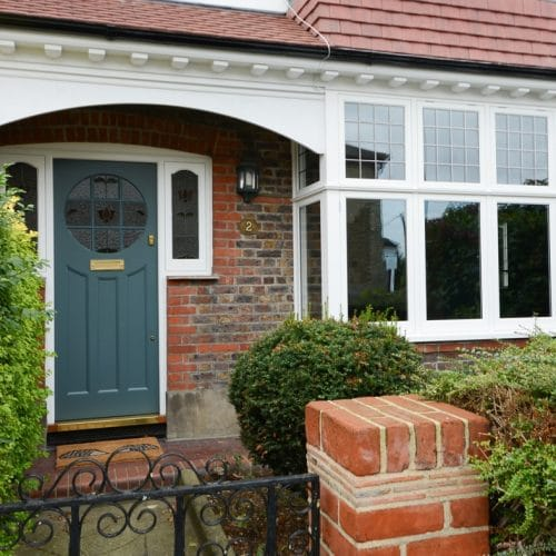 Timber casement windows & front door