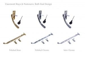 Casement stays & fasteners: Bulb end design