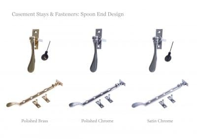 Casement stays & fasteners: Spoon end design