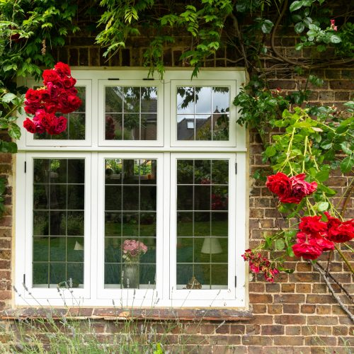 Leaded timber casement windows