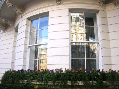 Bowed sash windows
