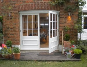 Wide French doors