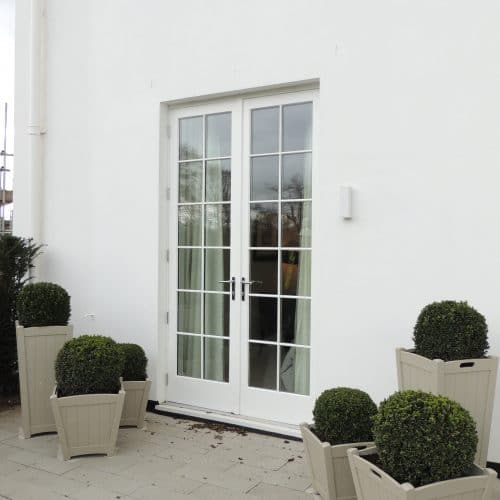 Listed French doors