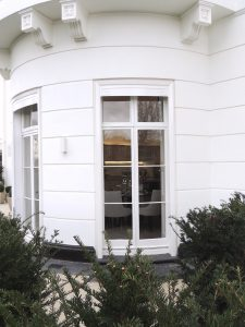Bow-fronted French Doors
