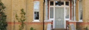 Edwardian front door with side lights