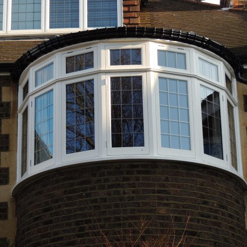 Leaded casement windows