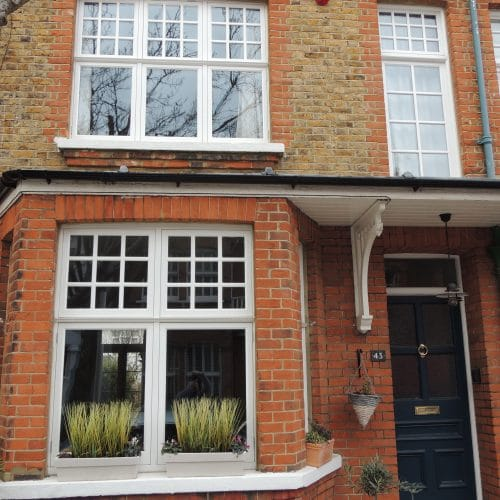 Casement windows with glazing bars