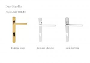 Rosa Lever French door handles