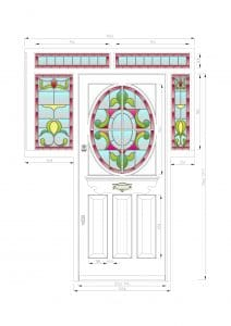 CAD drawing - Edwardian front door