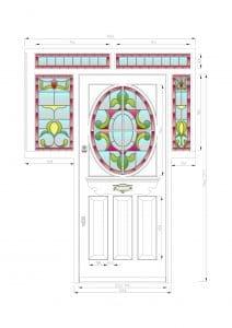 CAD drawing - Edwardian front door