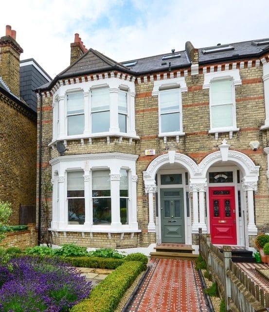Victorian property with sash windows