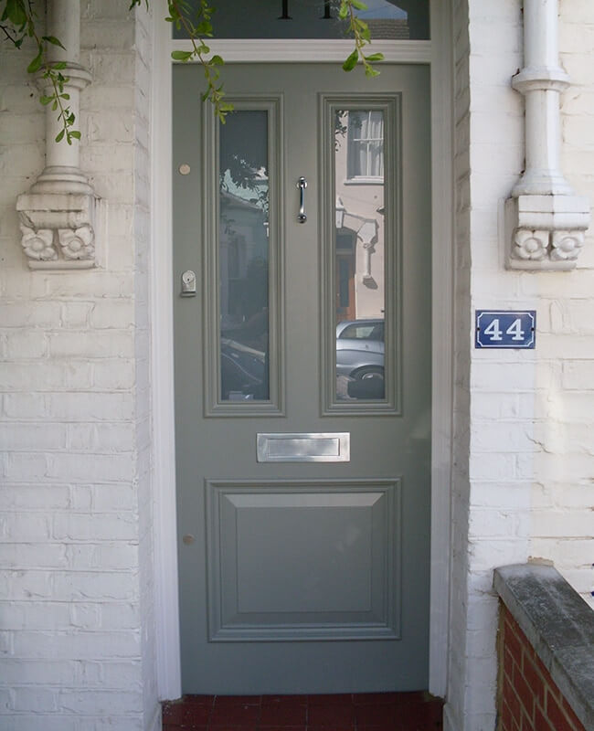 Custom built traditional front doors victorian for Traditional front doors