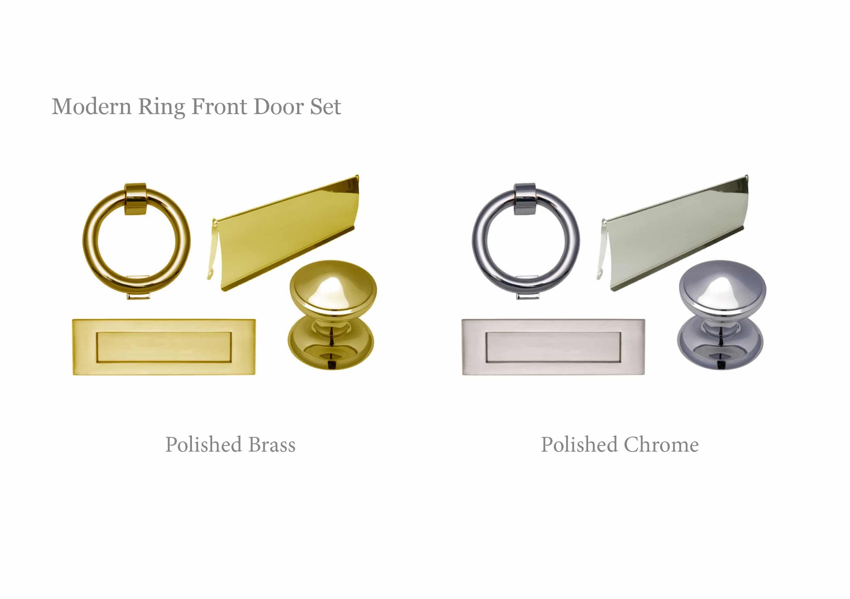 Modern Ring Front Door Set