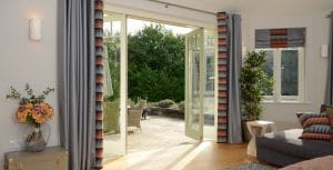 Bespoke bifold doors with glazing bars