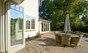 Timber bifold doors and casement windows
