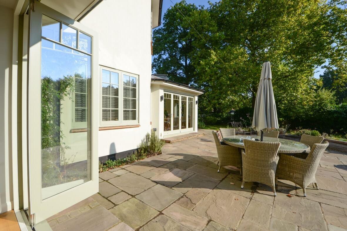 Traditional bifold doors & casement windows