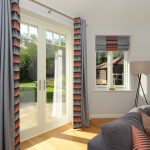French doors with matching casement windows