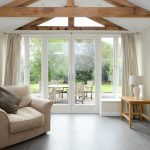Classic French doors with side panels