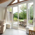 French doors on barn conversion
