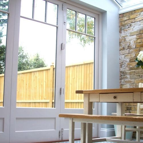 Bifold doors with glazing bars & panels