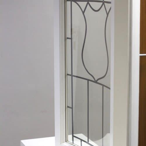 Sample bowed casement window